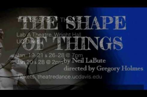 """""""The Shape of Things"""" Opens Jan. 19"""