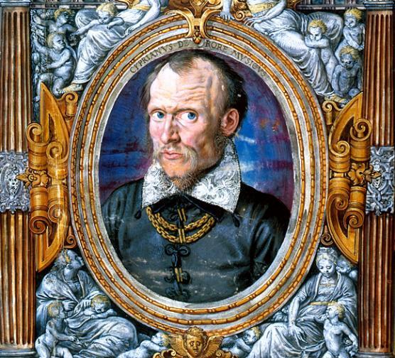 """A portrait of """"il divino Cipriano"""" (Bavarian State Library, Munich)."""