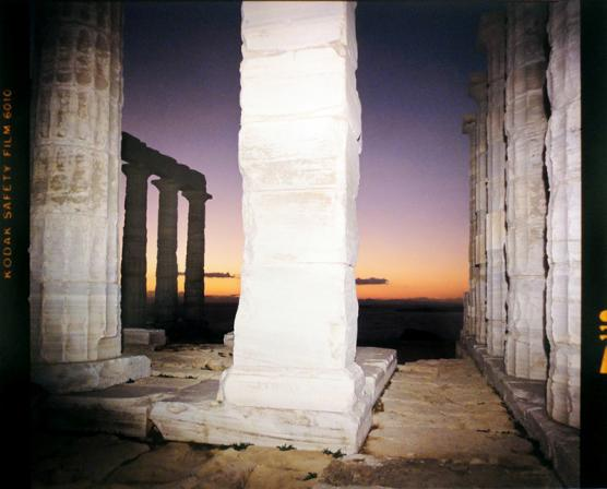 Nelson Gallery: Sounion Column, 1979, photo of Ancient Greek temple, from the collection of Barry Ramer.