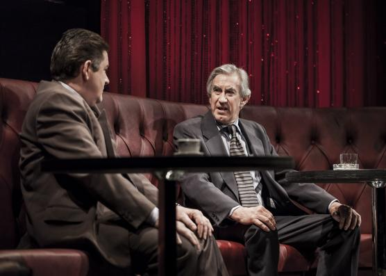 Dennis Conway and Barry McGovern in The Gate Theatre's Glengary Glen Ross