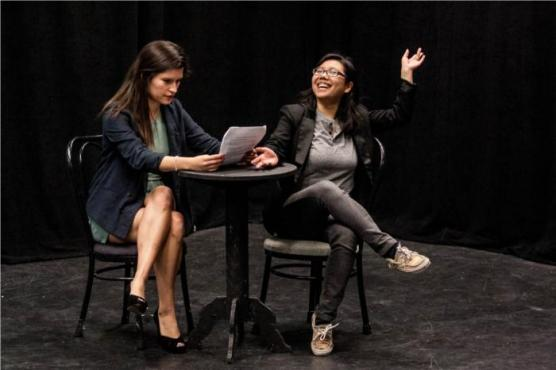 Natalie Boyd, Audrey Shih in One-Acts: Lutefisk; Photo: Abigail Alcala