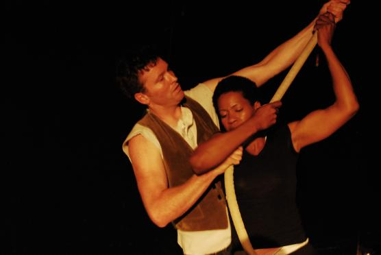 Kevin O'Connor & Mary Ann Brooks in The Wreck; Photo by Manuela Vargas