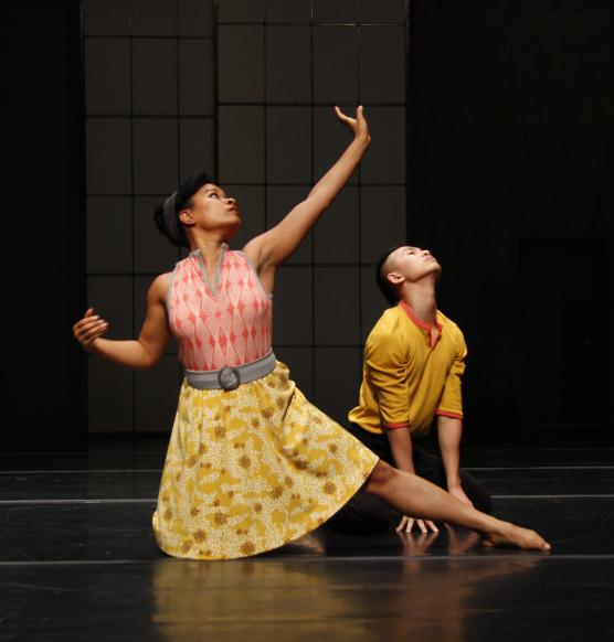 "Raissa Simpson and Hien Hunyh in ""Time Is Passing By."" Photo by Huan Yu"