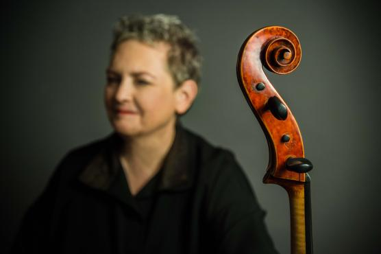 Rhonda Rider, with her cello.