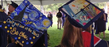Artful caps at 2014 Commencement