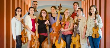 The viola da gamba players at UC Davis.
