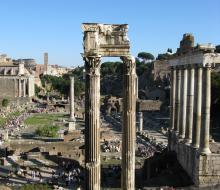 Roman Forum. Photograph by Jeffrey Ruda.