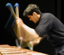 Chris Froh playing the marimba.