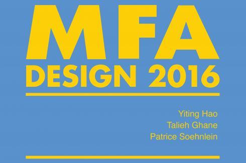 Image of MFA Design 2016 exhibition