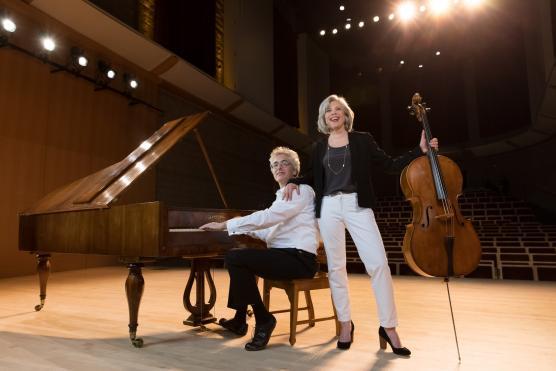 Tanya Tomkins, cello, and Eric Zivian, piano