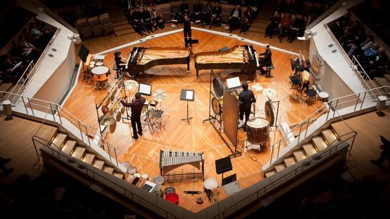 Berlin PianoPercussion: Copland, Nichols, Seither, García