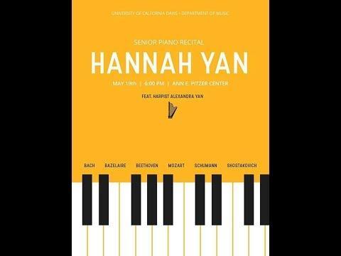 Hannah Yan, piano