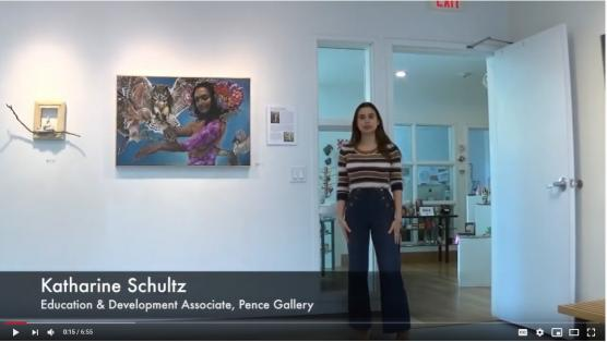 """Alum Katharine Schultz gives tour of """"Water + Color"""" at Pence"""