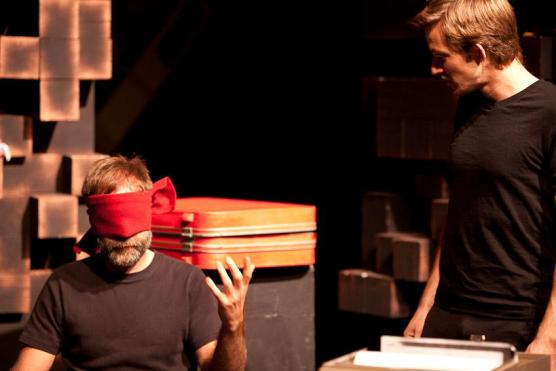 The Psycho-Physical Actor/MFA Acting Will Klundt and Aaron Jessup Credit: Robert Durell