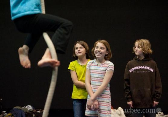 Family circus workshops. Credit Randy Pench, Sacramento Bee