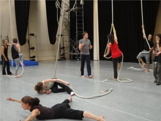 Kevin O'Connor teaches circus arts workshop
