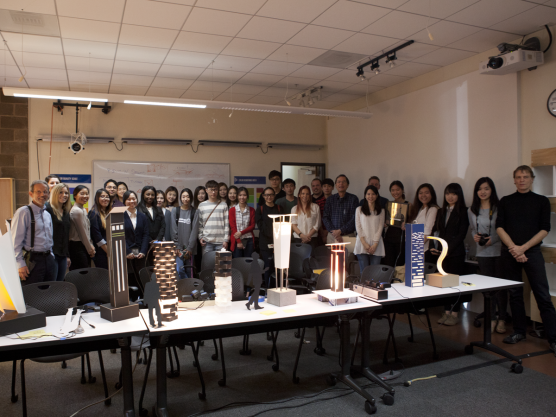 Group photo after the 2016 Lighting Design Competition/DES136B final presentation