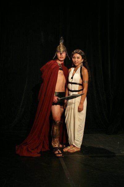 Gladiator and Roman Woman