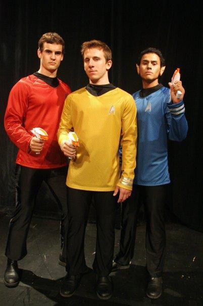 """Star Trek"" inspiried trio"