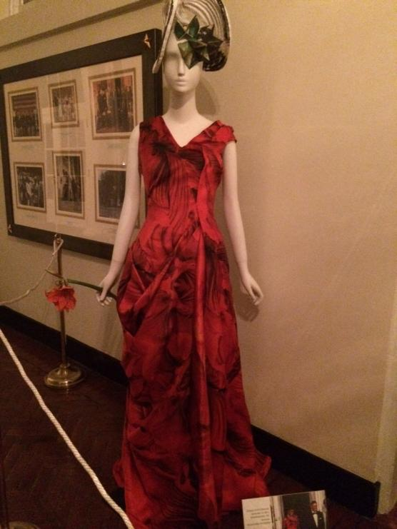 Gown by Alexander McQueen worn by Michelle Obama.