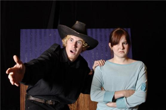 UCDavis Students Kyle Robinson & Amber Nolan in When Marcelli Met the Dream Maker, THIRDeYE Theatre Festival