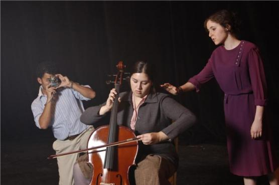 UCDavis Students Kristina Stasi, Kathryn Hempstead & Juan Gallardo in A Piece of Water, THIRDeYE Theatre Festival