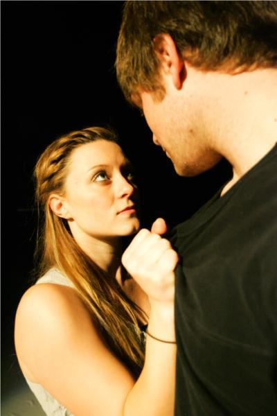 "Solveig Buciak and Zach Heinzer in ""Out of Our Mouths"" by Stephanie Treen. Credit Brian Nguyen"