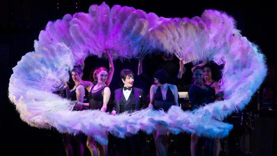 "Mindy Cooper (at left) with Chita Rivera (center) in ""All I Care About Is Love."" Photo: Monica Simoes, courtesy of Broadway Cares"