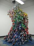 Self-portrait, Winter 2014, 110 x 94 x 76, Empty aluminum cans, metals and electric wires